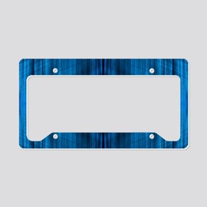 modern beach blue batik License Plate Holder