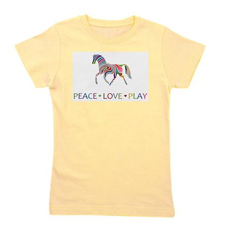 Rainbow Horse Peace Love Play Rainbow horse peace love play Girl's Tee