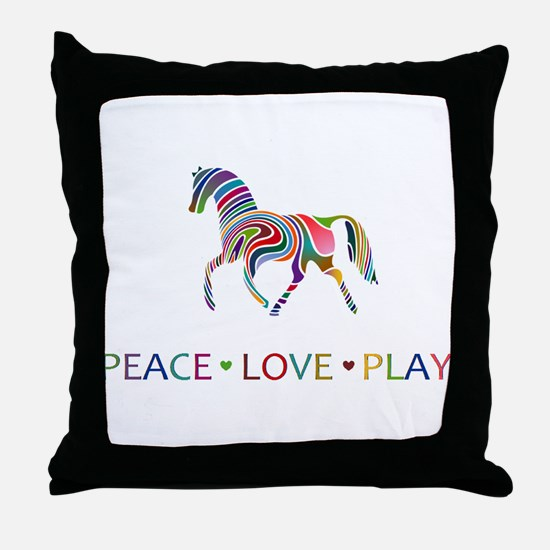 Unique Horseback riding Throw Pillow