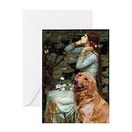 Ophelia & Golden Retriever Greeting Card