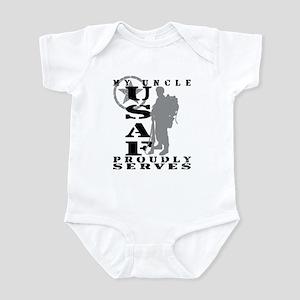 Uncle Proudly Serves 2 - USAF Infant Bodysuit