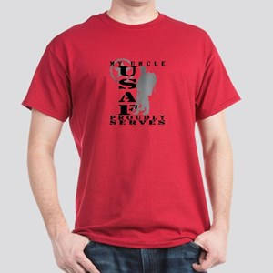 Uncle Proudly Serves 2 - USAF Dark T-Shirt