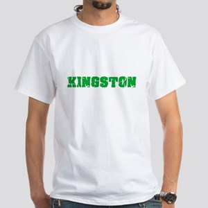 Kingston Name Weathered Green Design T-Shirt