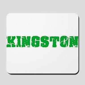 Kingston Name Weathered Green Design Mousepad