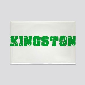 Kingston Name Weathered Green Design Magnets