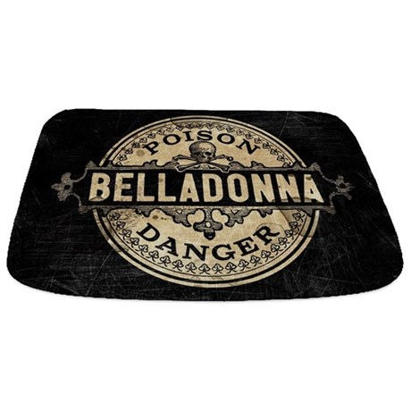 Vintage Style Belladonna Poison Bathmat