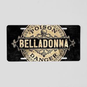 Vintage Style Belladonna Po Aluminum License Plate
