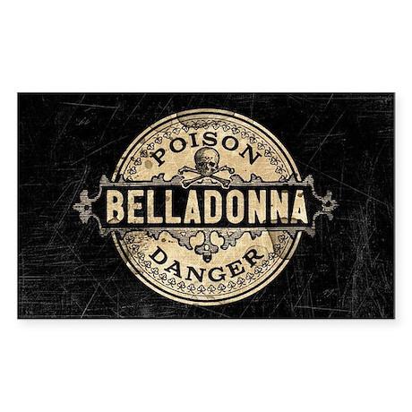 Vintage Style Belladonna Poiso Sticker (Rectangle)