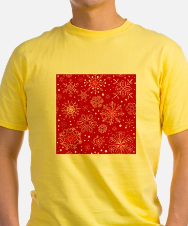Snowflakes on Red Background T