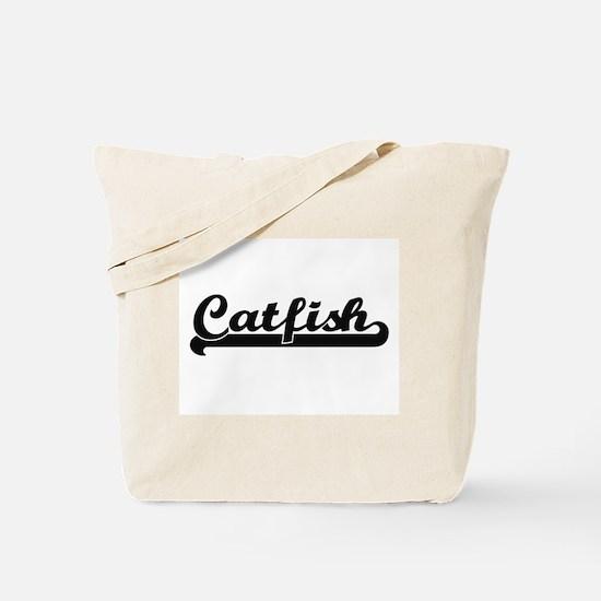 Catfish Classic Retro Design Tote Bag