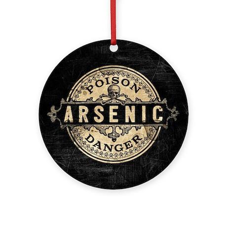 Arsenic Vintage Style Round Ornament