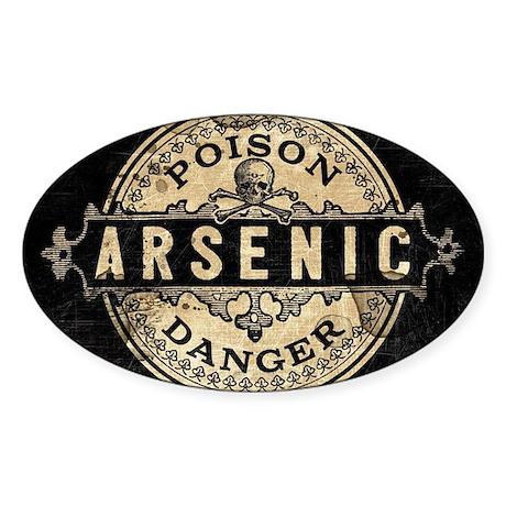 Arsenic Vintage Style Sticker (Oval)
