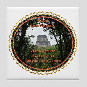 Tikal Temple 4 Teeshirt Tile Coaster