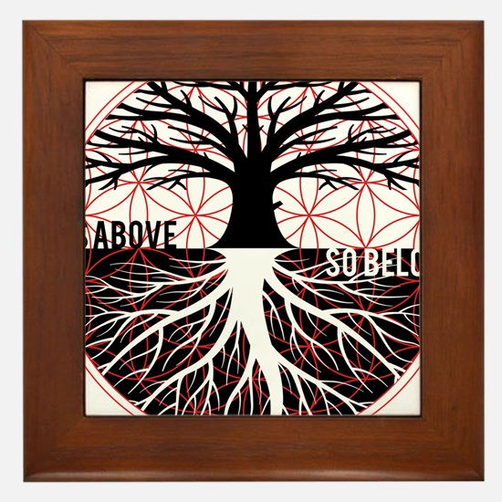 AS ABOVE SO BELOW - Tree of life Flower of Life Fr