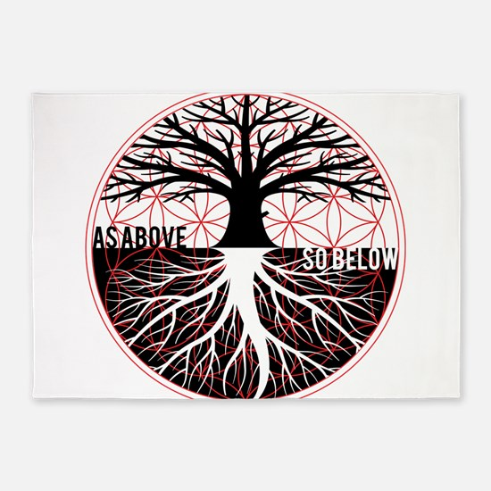 AS ABOVE SO BELOW - Tree of life Flower of Life 5'