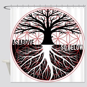 AS ABOVE SO BELOW - Tree of life Flower of Life Sh