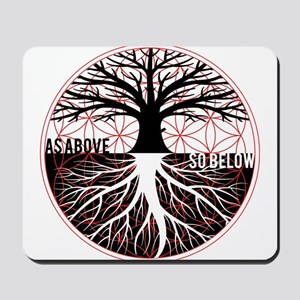 AS ABOVE SO BELOW - Tree of life Flower of Life Mo