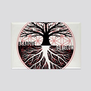 AS ABOVE SO BELOW - Tree of life Flower of Life Ma