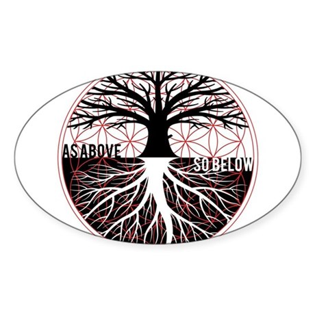AS ABOVE SO BELOW - Tree of life Flower of Life St