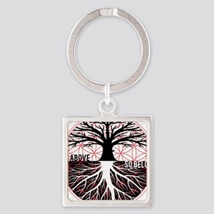 AS ABOVE SO BELOW - Tree of life Flower of Life Ke