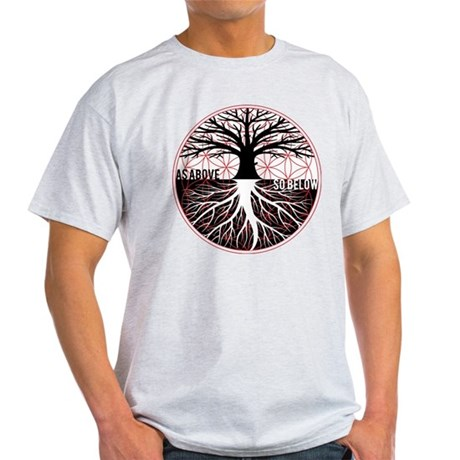 AS ABOVE SO BELOW - Tree of life Flower of Life T-Shirt - 100% Cotton