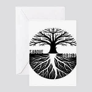 AS ABOVE SO BELOW Tree of life Greeting Cards