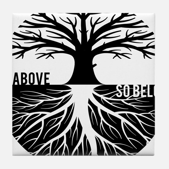 AS ABOVE SO BELOW Tree of life Tile Coaster