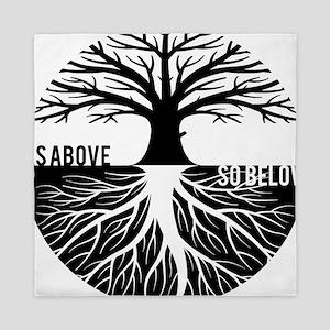 AS ABOVE SO BELOW Tree of life Queen Duvet