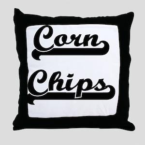 Corn Chips Classic Retro Design Throw Pillow