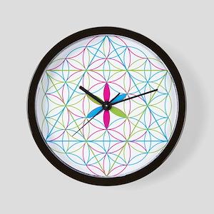 Flower of life tetraedron/merkaba Wall Clock