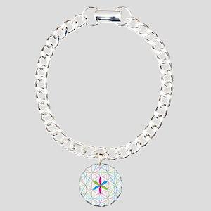 Flower of life tetraedron/merkaba Bracelet