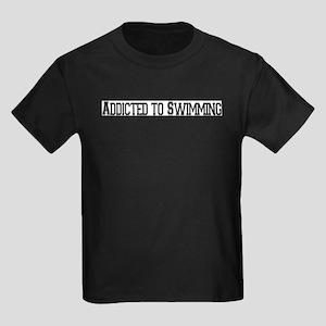 Addicted to Swimming Kids Dark T-Shirt