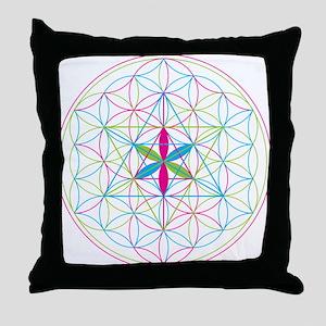 Flower of life Metatron Merkaba Throw Pillow