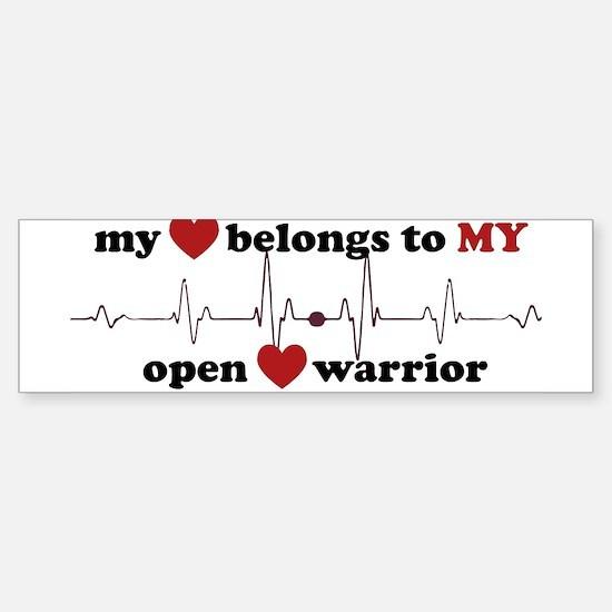 my heart belongs Bumper Bumper Bumper Sticker