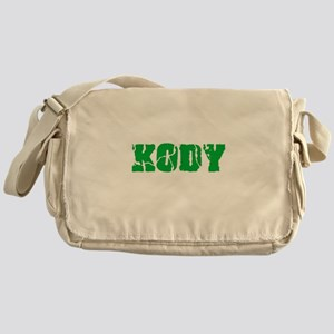 Kody Name Weathered Green Design Messenger Bag