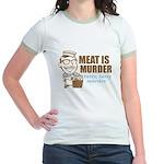 Meat is Murder Jr. Ringer T-Shirt