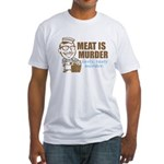 Meat is Murder Fitted T-Shirt