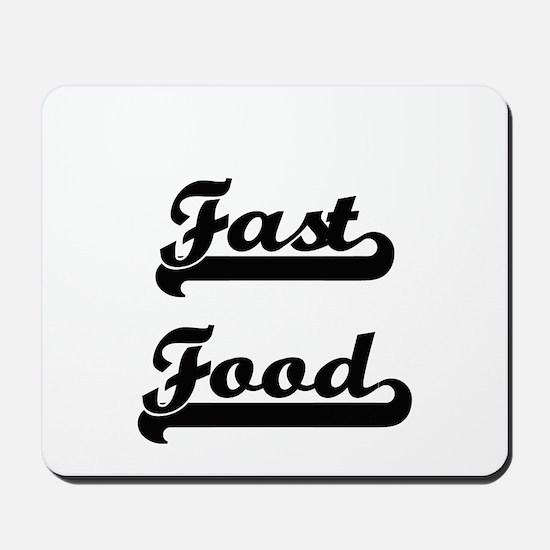 Fast Food Classic Retro Design Mousepad