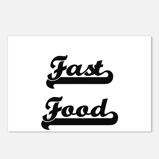 Fast Food Classic Retro D Postcards (Package of 8)