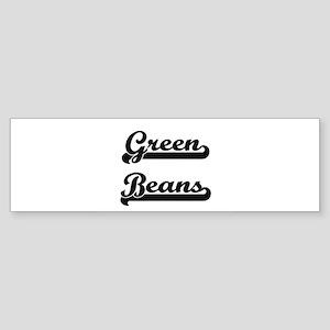 Green Beans Classic Retro Design Bumper Sticker