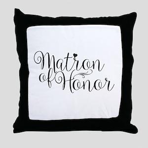 Matron of Honor Throw Pillow