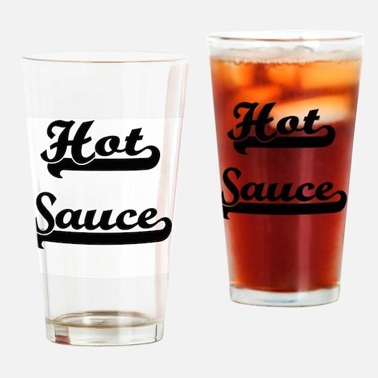 Hot Sauce Classic Retro Design Drinking Glass