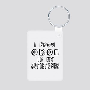 Oboe is my superpower Aluminum Photo Keychain
