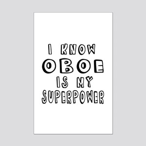 Oboe is my superpower Mini Poster Print