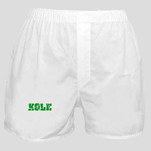 Kole Name Weathered Green Design Boxer Shorts