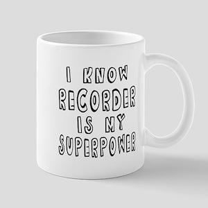 Recorder is my superpower Mug