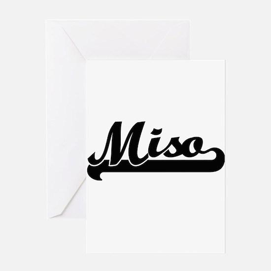 Miso Classic Retro Design Greeting Cards