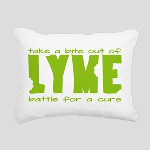 Take a Bite Out of Lyme Rectangular Canvas Pillow