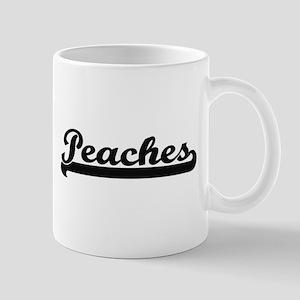 Peaches Classic Retro Design Mugs