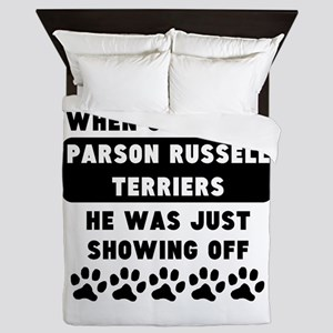 When God Made Parson Russell Terriers Queen Duvet